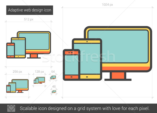 Adaptive web design line icon. Stock photo © RAStudio