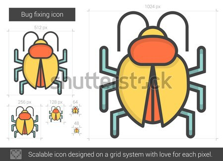 Bug lijn icon vector geïsoleerd Stockfoto © RAStudio