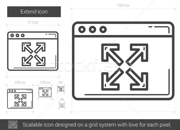Extend line icon. Stock photo © RAStudio