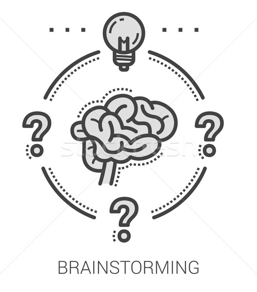 Brainstorming line icons. Stock photo © RAStudio