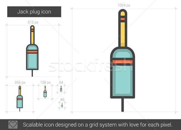 Plug линия икона вектора изолированный белый Сток-фото © RAStudio