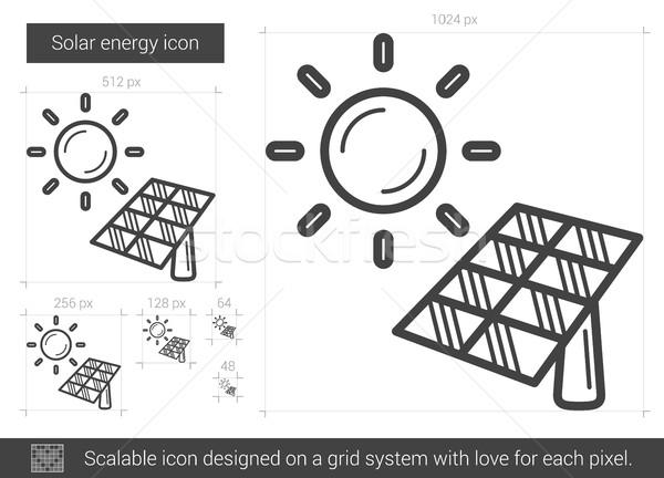 Solar energy line icon. Stock photo © RAStudio