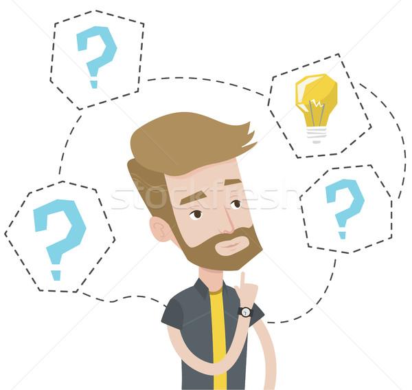 ストックフォト: 男 · ビジネス · アイデア · 白人 · ヒップスター · ビジネスマン