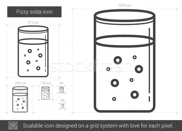 Fizzy soda line icon. Stock photo © RAStudio