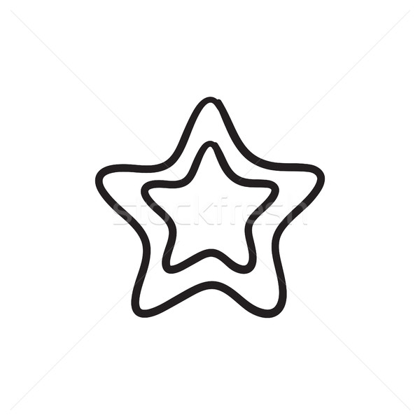 Rating star sketch icon. Stock photo © RAStudio