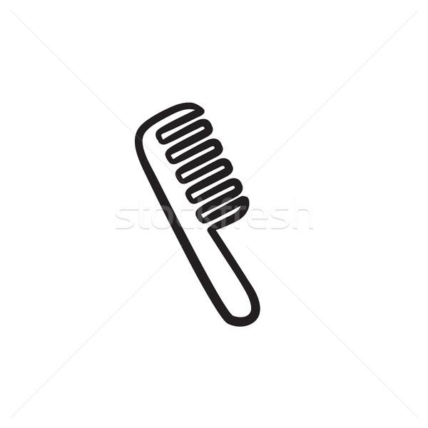 Kamm Skizze Symbol Vektor isoliert Hand gezeichnet Stock foto © RAStudio