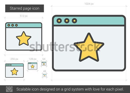 Stock photo: Starred page line icon.