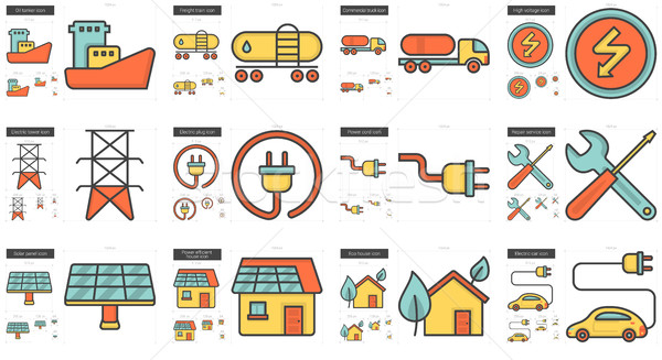 Ecology line icon set. Stock photo © RAStudio