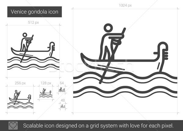 Gondol hat ikon vektör yalıtılmış beyaz Stok fotoğraf © RAStudio
