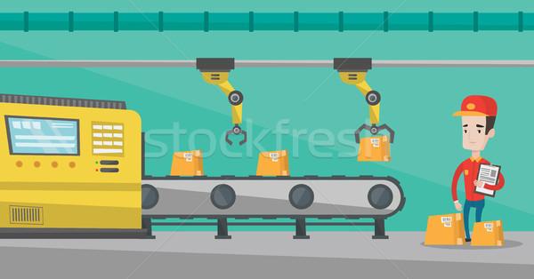 Robotic arm working on production line. Stock photo © RAStudio