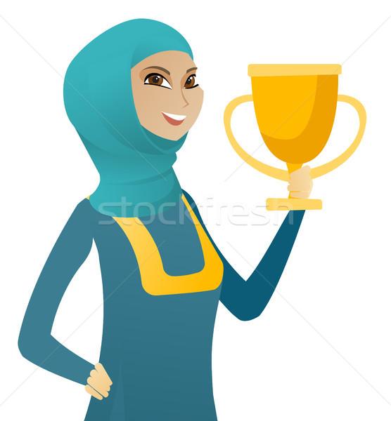 小さな ムスリム ビジネス女性 トロフィー ストックフォト © RAStudio