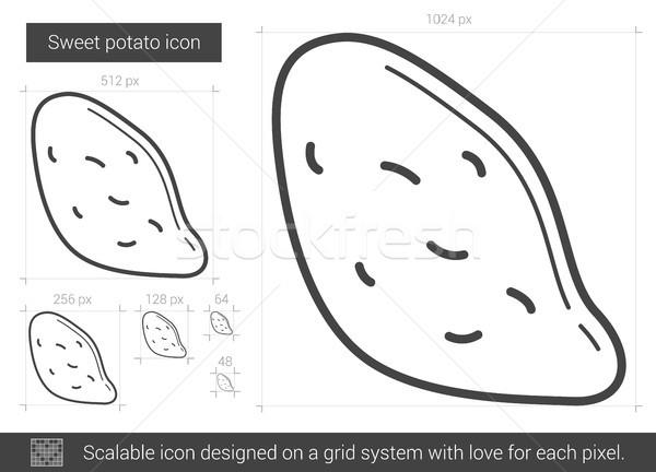 Tatlı patates hat ikon vektör yalıtılmış beyaz Stok fotoğraf © RAStudio