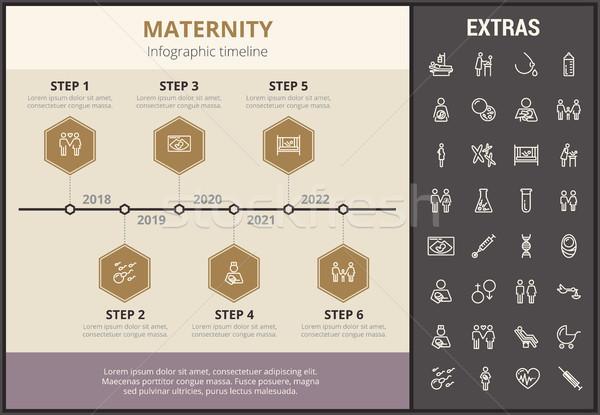 Maternità infografica modello elementi icone timeline Foto d'archivio © RAStudio