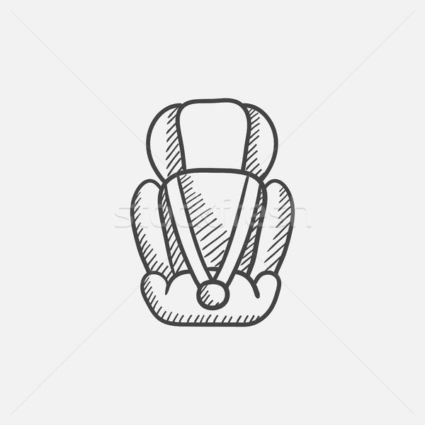 Baby car seat sketch icon. Stock photo © RAStudio
