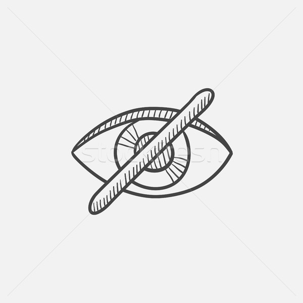 Invisible sketch icon. Stock photo © RAStudio