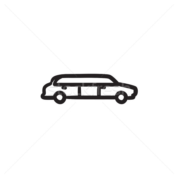 Wedding limousine sketch icon. Stock photo © RAStudio