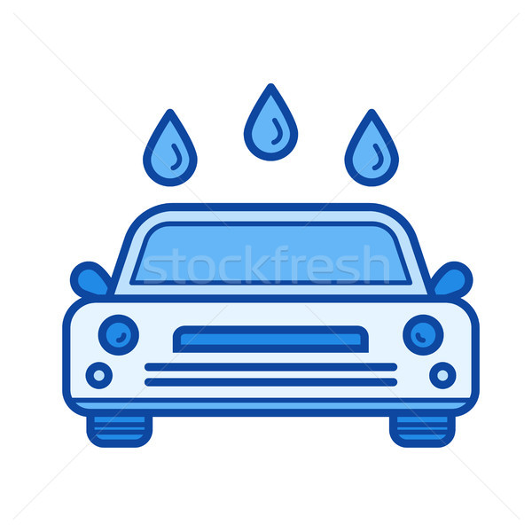 Car wash lijn icon vector geïsoleerd witte Stockfoto © RAStudio