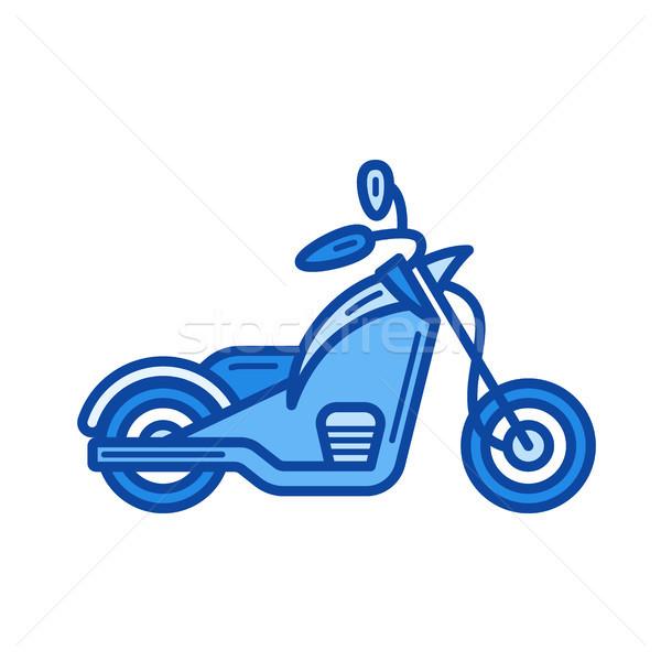 Bike chopper line icon. Stock photo © RAStudio