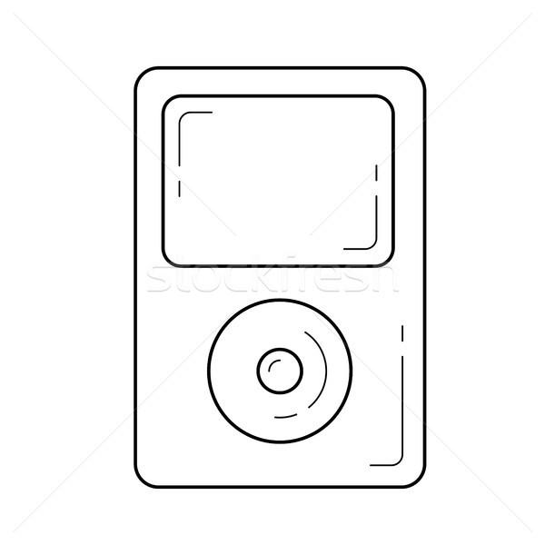 Portable Spieler line Symbol Vektor isoliert Stock foto © RAStudio
