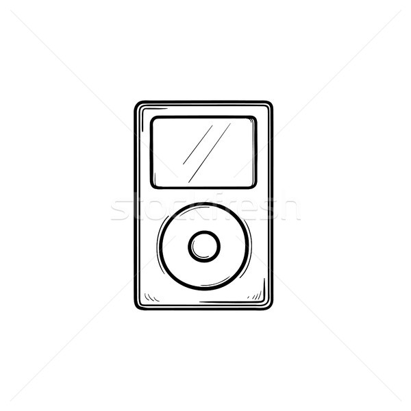 Mp3 player hand drawn outline doodle icon. Stock photo © RAStudio