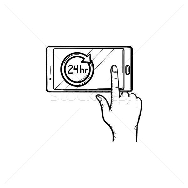 Availability hand drawn outline doodle icon. Stock photo © RAStudio