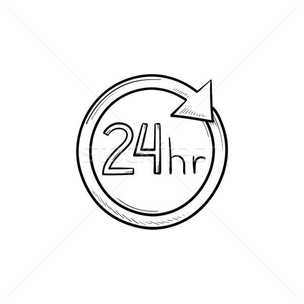24 рисованной болван икона круга Сток-фото © RAStudio