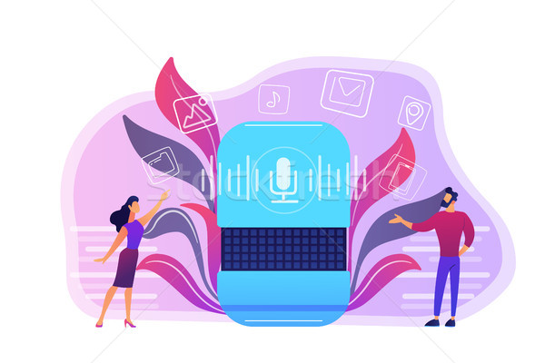 Smart speaker apps marketplace concept vector illustration. Stock photo © RAStudio