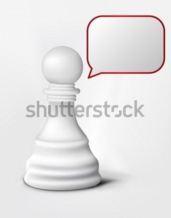 Question of Chess Pawn Stock photo © RAStudio