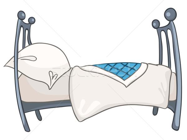 Stok fotoğraf: Karikatür · ev · mobilya · yatak · yalıtılmış · beyaz