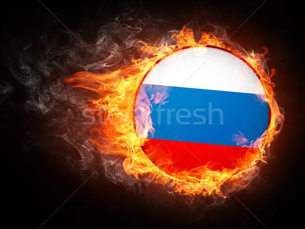 Rusya Bayrak Yangın Bilgisayar Grafikleri Star Boyama