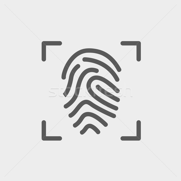 Fingerprint scanning thin line icon Stock photo © RAStudio