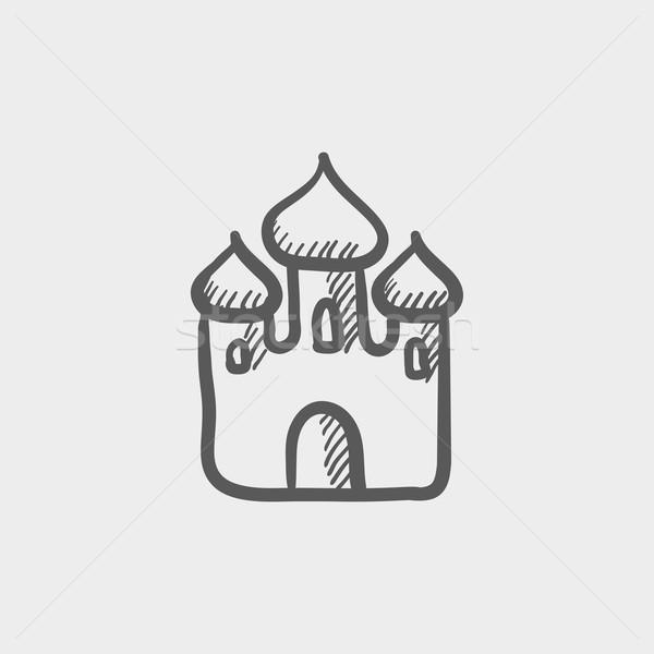 Albahaca catedral boceto icono web Foto stock © RAStudio
