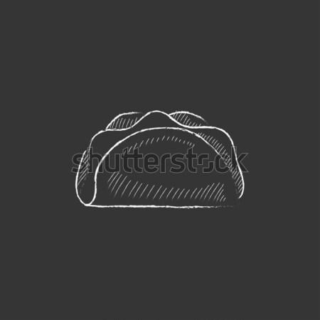 Taco icon drawn in chalk. Stock photo © RAStudio