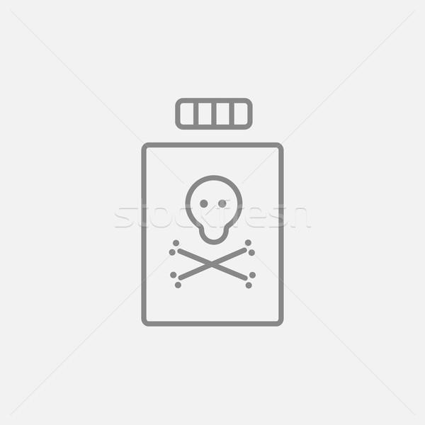 Bottiglia veleno line icona web mobile Foto d'archivio © RAStudio