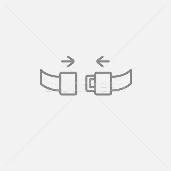 Koltuk kemer hat ikon web hareketli Stok fotoğraf © RAStudio