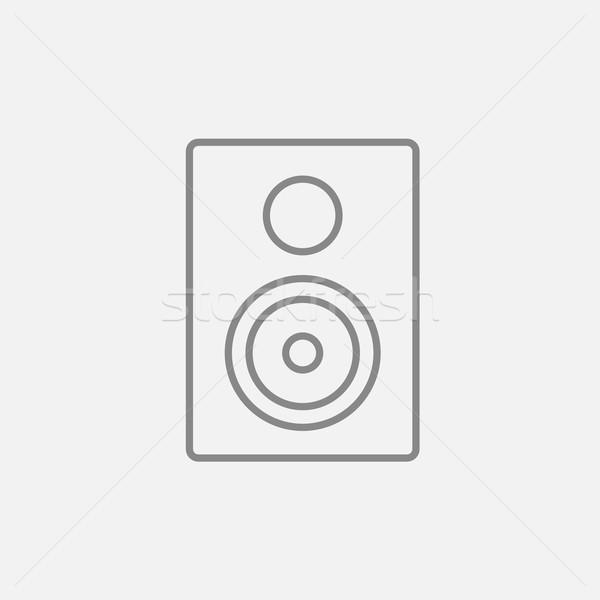 Mp3 lejátszó vonal ikon háló mobil infografika Stock fotó © RAStudio