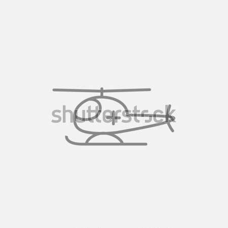 Air ambulance line icon. Stock photo © RAStudio