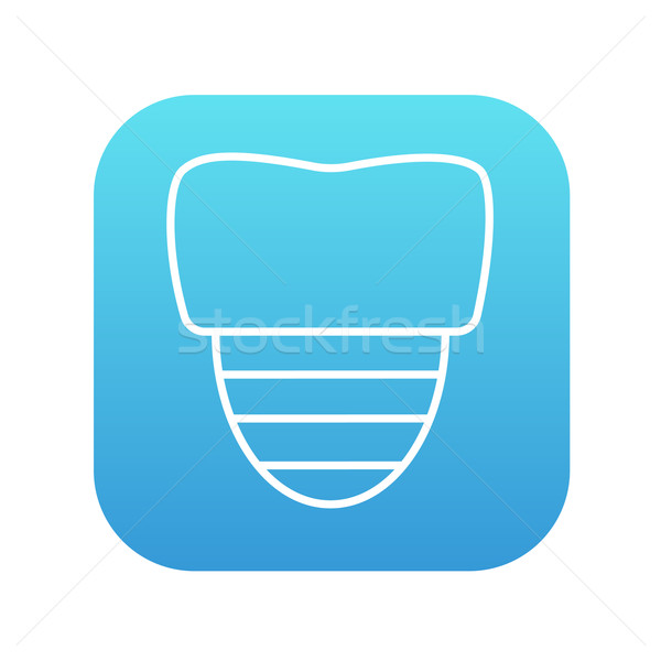 Tooth implant line icon. Stock photo © RAStudio
