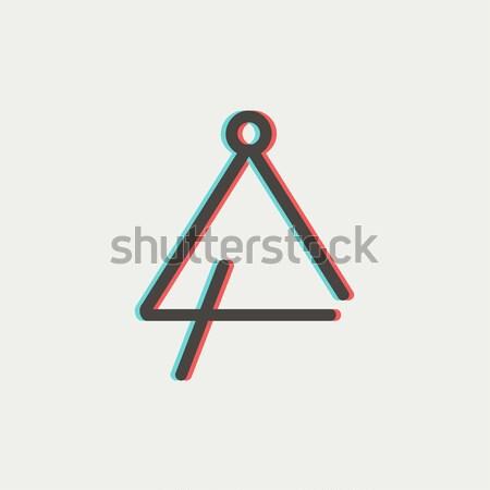 Triangle line icon. Stock photo © RAStudio