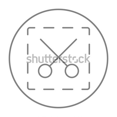 Tijeras punteado líneas línea icono web Foto stock © RAStudio