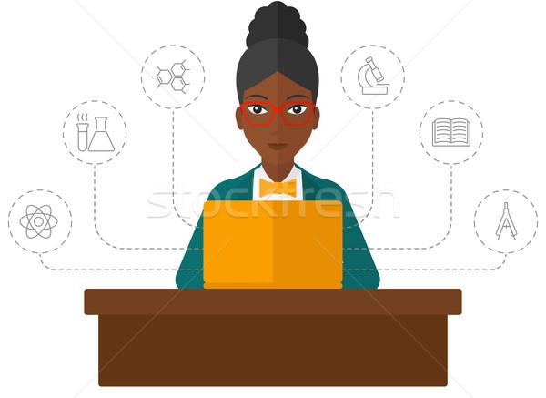 Woman studying with laptop. Stock photo © RAStudio