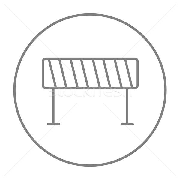 Road barrier line icon. Stock photo © RAStudio