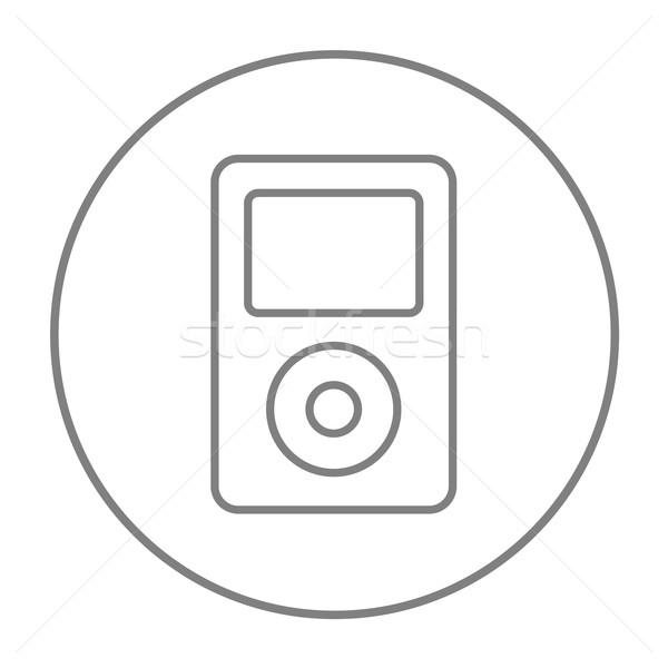 Mp3-speler lijn icon web mobiele infographics Stockfoto © RAStudio