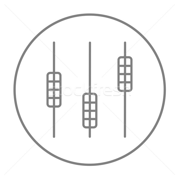 Sound mixer console line icon. Stock photo © RAStudio
