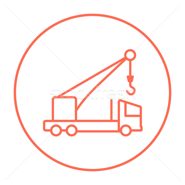Mobile crane line icon. Stock photo © RAStudio