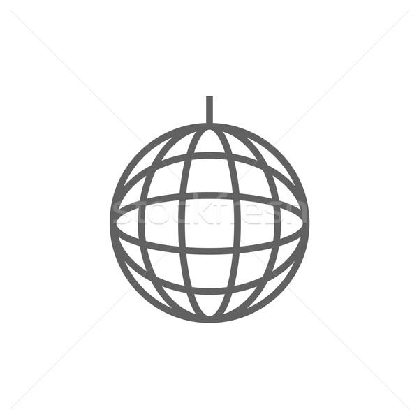 Diszkógömb vonal ikon háló mobil infografika Stock fotó © RAStudio