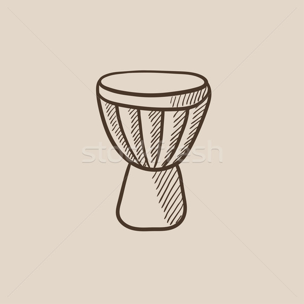 Timpani sketch icon. Stock photo © RAStudio