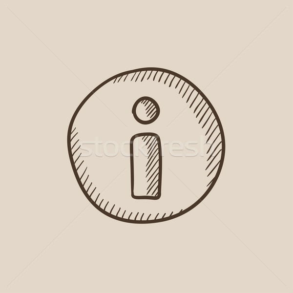 Information sign sketch icon. Stock photo © RAStudio