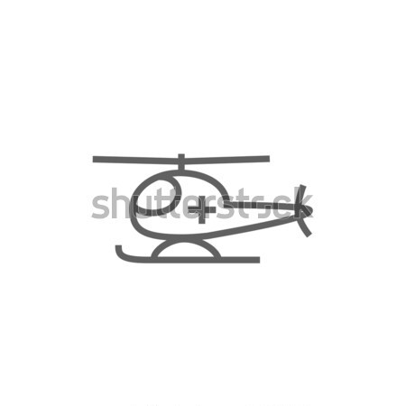 Air ambulance line icon. Stock photo © RAStudio