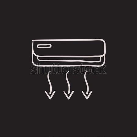 空調装置 チョーク アイコン 手描き ベクトル ストックフォト © RAStudio